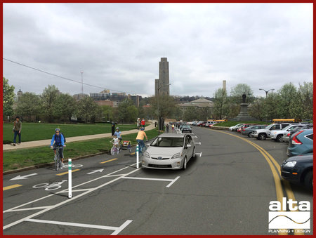 Design for Schenley Park protected bike lane