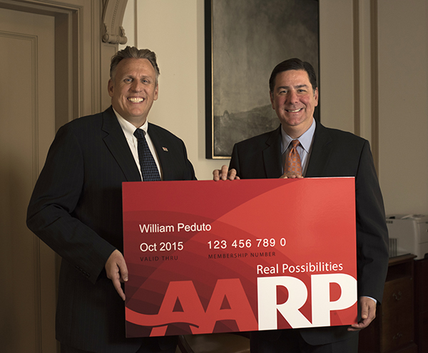 Mayor Peduto Receives AARP Card