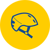 Wear a properly fitted helmet for safety. For children under 18, it's the law.