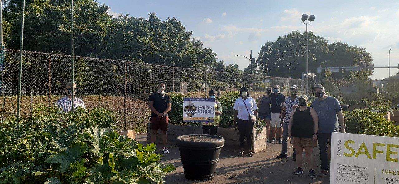 Volunteers at East Allegheny community garden