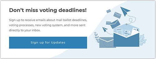 Link to voting reminders and updates.