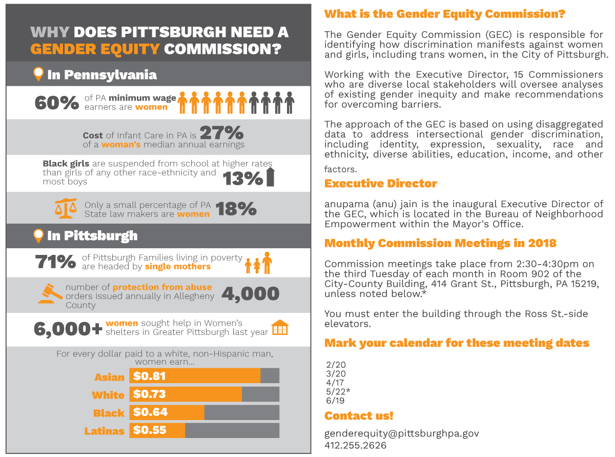 Image result for pittsburgh gender equity commission