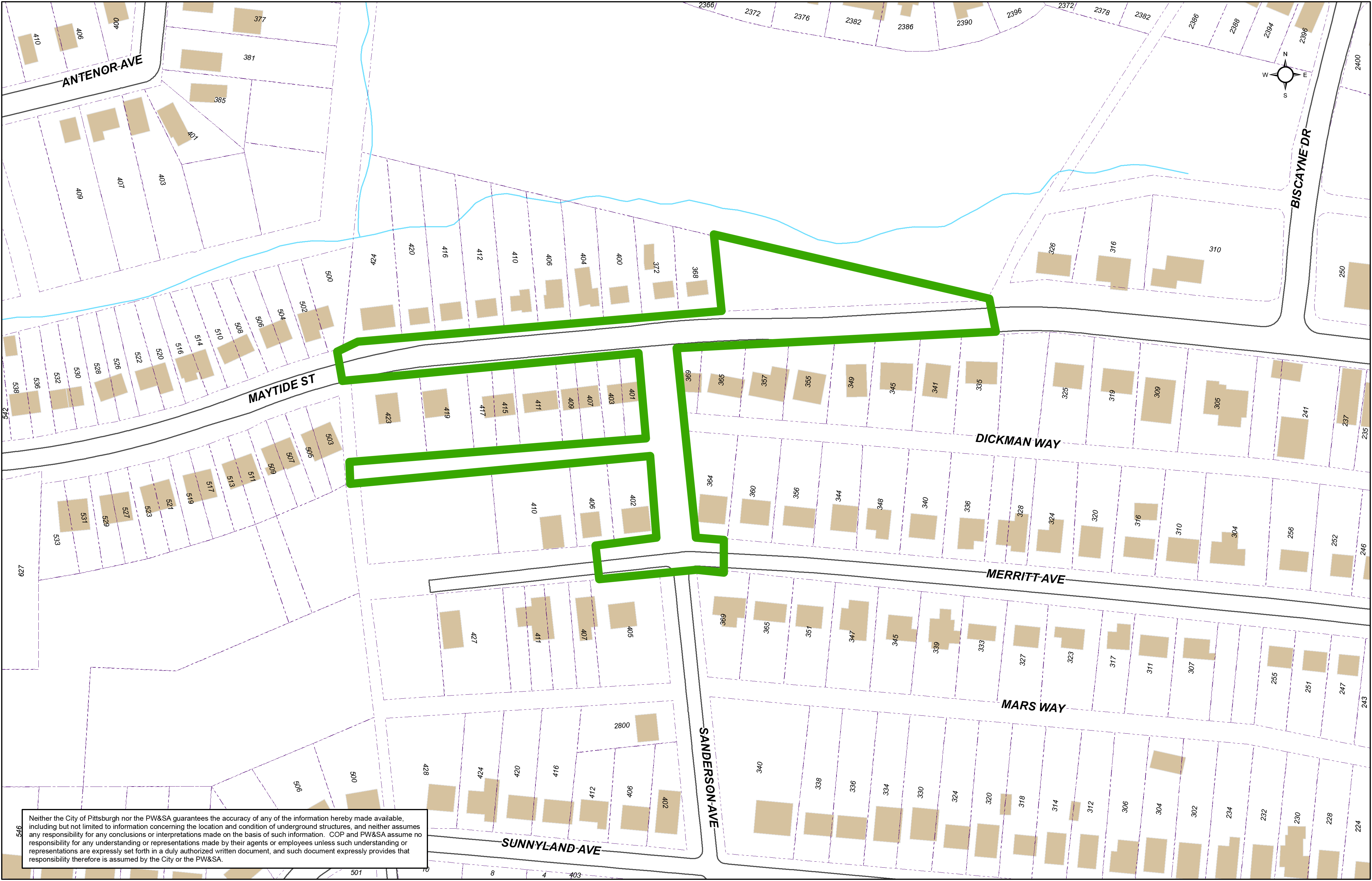 Maytide Street Stormwater Improvement Project Area Map