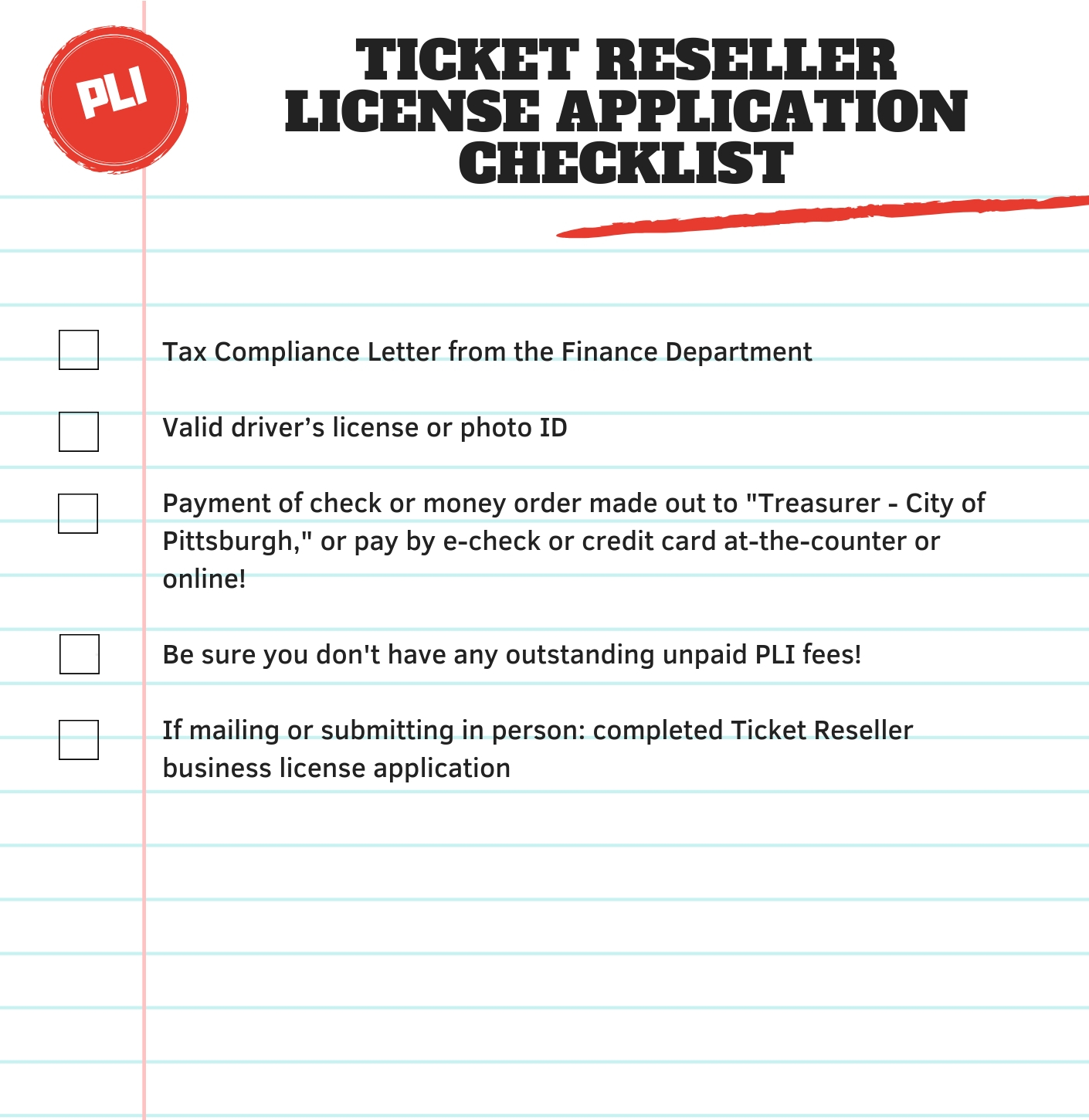 Ticket Reselling License | pittsburghpa gov