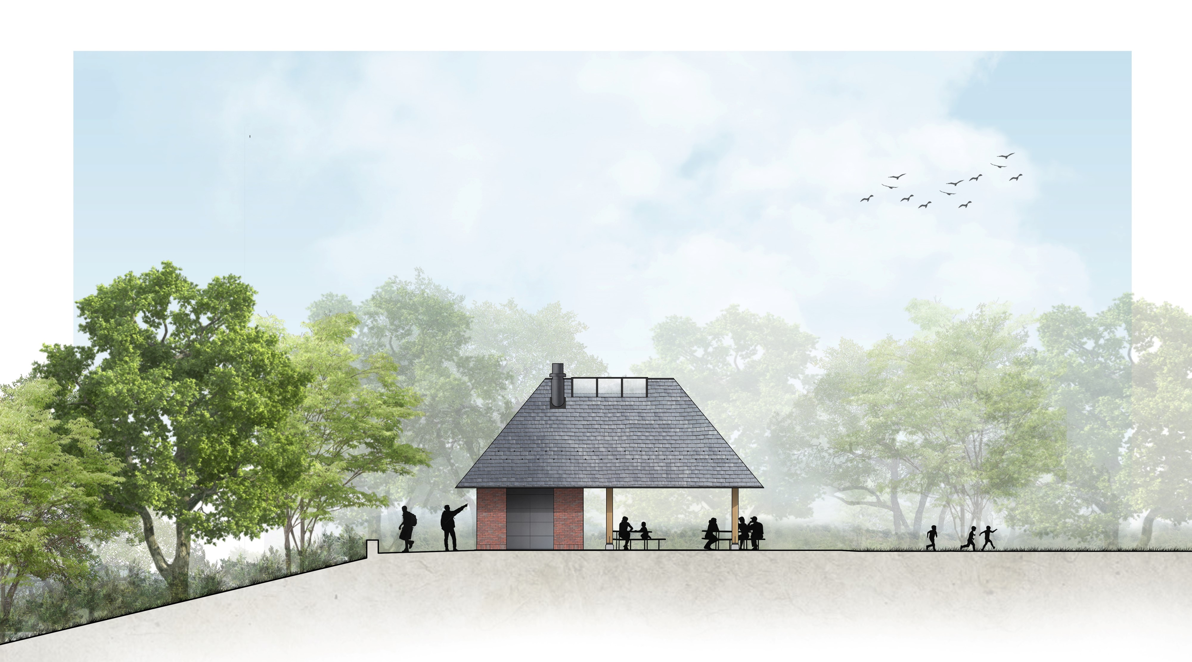 Rendering of new orthophosphate facility at the Sycamore Grove picnic area in Highland Park