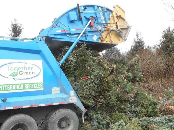 Xmas Tree Recycling Truck
