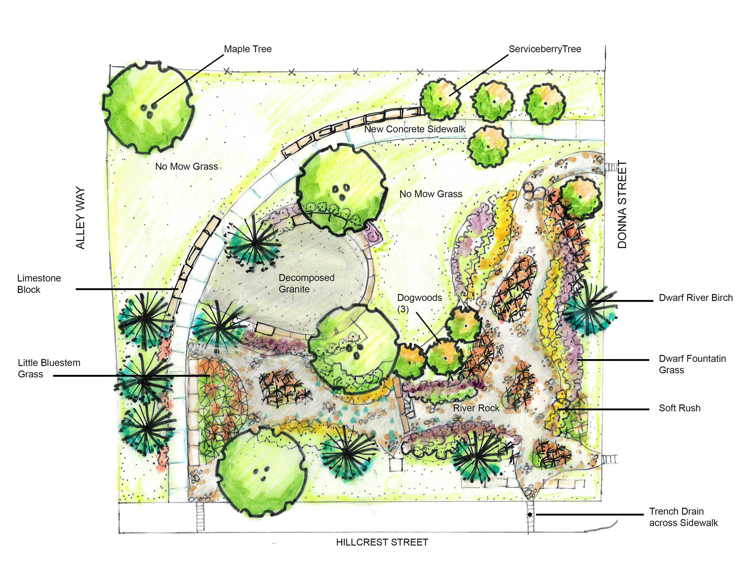 Hillcrest Street Green Infrastructure Project Site Design