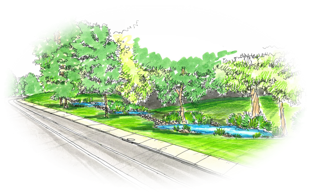 Rendering of phase two project site at Mairdale Avenue.
